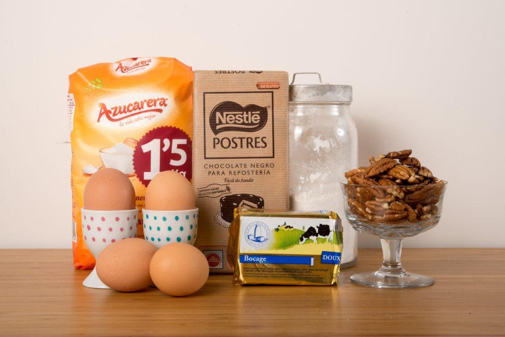Ingredientes Brownie sin gluten