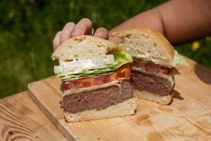 Interior hamburguesa americana