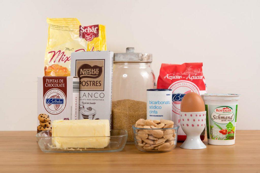 Ingredientes cookies