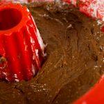 Mezcla en el molde engrasado