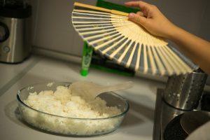 Abanicando el arroz